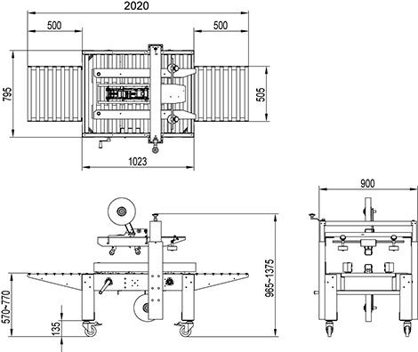 L CX2 Máy dán 2 mặt bán tự động model CX2